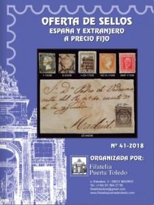 Oferta de sellos España y Extranjero a precio fijo 2018